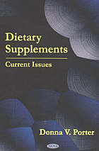 Dietary supplements : current issues