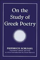 On the study of Greek poetry