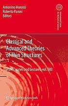 Classical and advanced theories of thin structures : mechanical and mathematical aspects