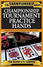 Championship hold'em tournament hands