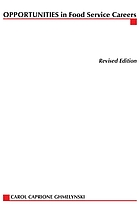 Opportunities in food service careers