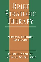 Brief strategic therapy : philosophy, techniques, and research