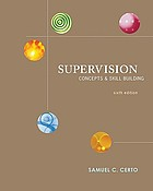 Supervision : concepts and skill-building
