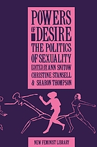 Powers of desire : the politics of sexuality