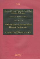 Political ideas in modern IndiaPolitical ideas in modern India : thematic explorations