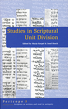 Studies in scriptural unit division