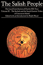 The Salish people : the local contribution of Charles Hill-Tout
