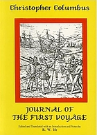 Journal of first voyage to America