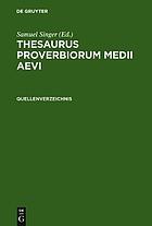 Thesaurus proverbiorum medii aevi