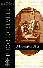 Isidore of Seville : De ecclesiasticis officiis