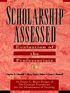 Scholarship assessed : evaluation of the professoriate