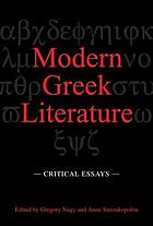Modern Greek literature : critical essays