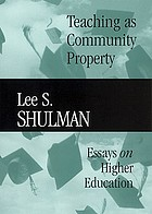 Teaching as community property : essays on higher education