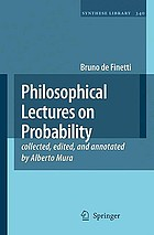Philosophical lectures on probability