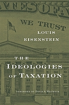 The ideologies of taxation