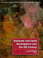 Economic and social development into the XXI Century