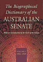 The biographical dictionary of the Australian Senate