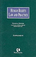 Human rights law and practice. Supplement to the first edition