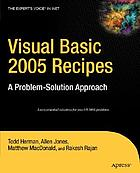 Visual basic 2005 recipes a problem-solution approach