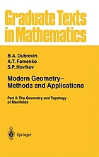 Modern geometry--methods and applicationsModern geometry : methods and applications