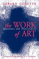 The work of artThe work of art : immanence and transcendence
