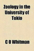 Zoology in the University of Tokio