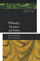 Philosophy, literature, and politics essays honoring Ellis Sandoz