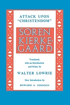 "Kierkegaard's attack upon ""Christendom,"" 1854-1855"