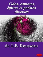 Odes, cantates, épitres et poésies diverses
