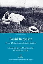 David Bergelson : from modernism to socialist realism