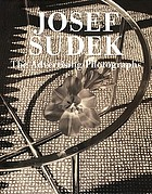 Josef Sudek : the advertising photographs