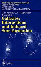Galaxies : interactions and induced star formation