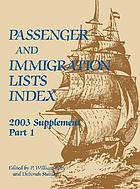 Passenger and immigration lists index : a guide to published records of more than 2,410,000 immigrants who came to the New World between the sixteenth and the mid-twentieth centuries