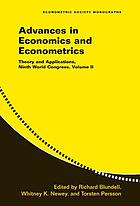 Advances in economics and econometrics theory and applications, ninth World Congress