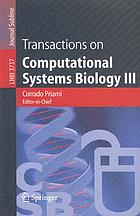 Transactions on computational systems biology