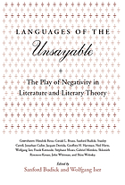 Languages of the unsayable : the play of negativity in literature and literary theory