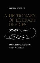 A dictionary of literary devices : gradus, A-Z