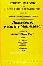 Handbook of recursive mathematics Recursive model theory