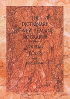 The dictionary of New Zealand biography. Volume four, 1921-1940