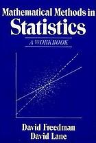 Mathematical methods in statistics : a workbook