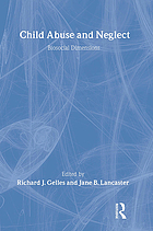 Child abuse and neglect : biosocial dimensions