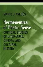 Hermeneutics of poetic sense : critical studies of literature, cinema, and cultural history