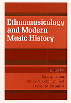 Ethnomusicology and modern music history