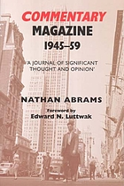 Commentary magazine 1945-1959 : a journal of significant thought and opinion