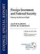 Foreign investment and national security : getting the balance right