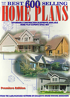 600 best selling home plans