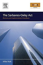 The Sarbanes-Oxley Act overview and implementation procedures