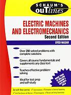 Schaum's outline of theory and problems of electric machines and electromechanics