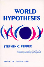 World hypotheses, a study in evidence