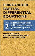 Theory and application of hyperbolic systems of quasilinear equations
